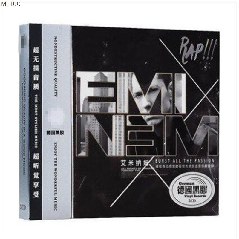 Metoo - Eminem Songs Featured Album Vinyl Car 3cd Box [free Shipping] New