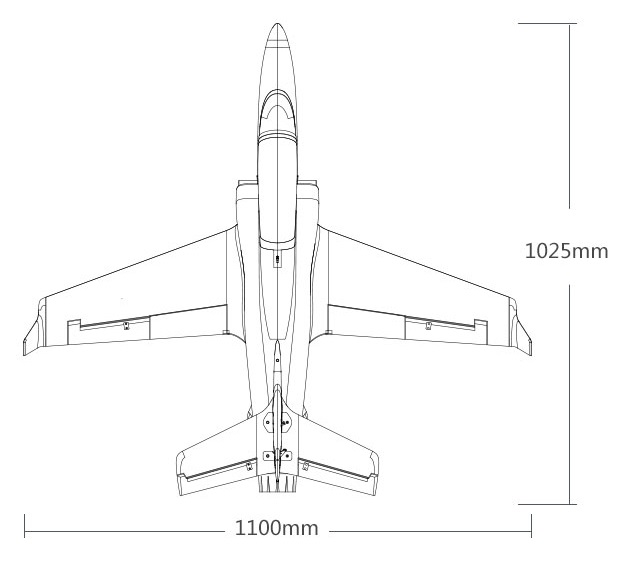 FMS RC Airplane model New 70mm Electric RC Viper Jet,Super