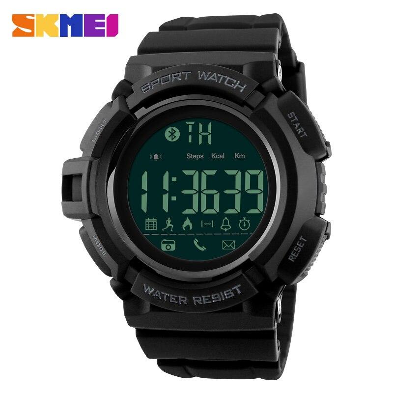 SKMEI Bluetooth Smart Watch Men Sports Watches Pedometer Calories Chronograph Fashion 50M Waterproof Digital Wristwatches 1245