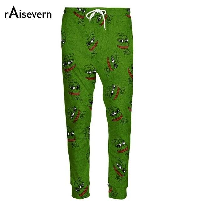 Raisevern Fashion 3D Pepe The Frog Joggers Pants Men/Women Funny Cartoon Sweatpants Trousers Elastic Waist Pants Dropship