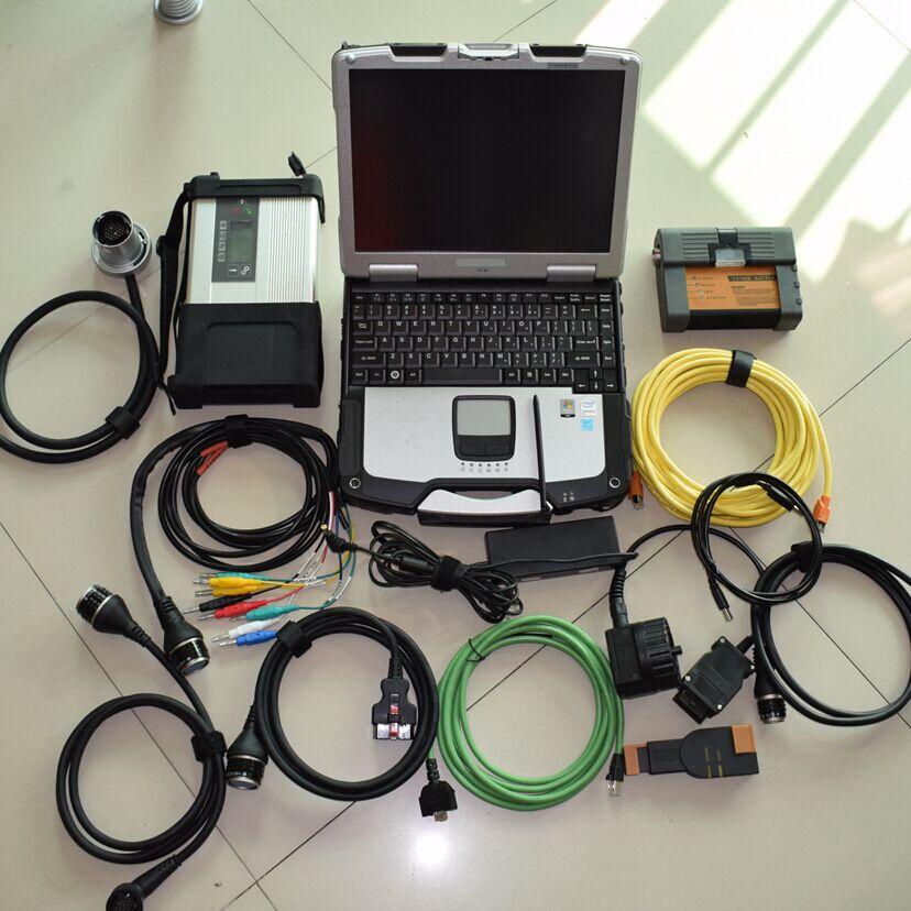 2018 super mb star c5 multiplexeur avec le logiciel pour bmw icom a2 avec logiciel 2 IN1 hdd 1 tb avec ordinateur portable toughbook cf-30 4g
