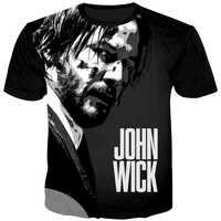 Cloudstyle 2020 verano John Wick 3D impreso camiseta hombres manga corta Camiseta Keanu Reeves Cool película Camiseta Hombre Streetwear 5XL