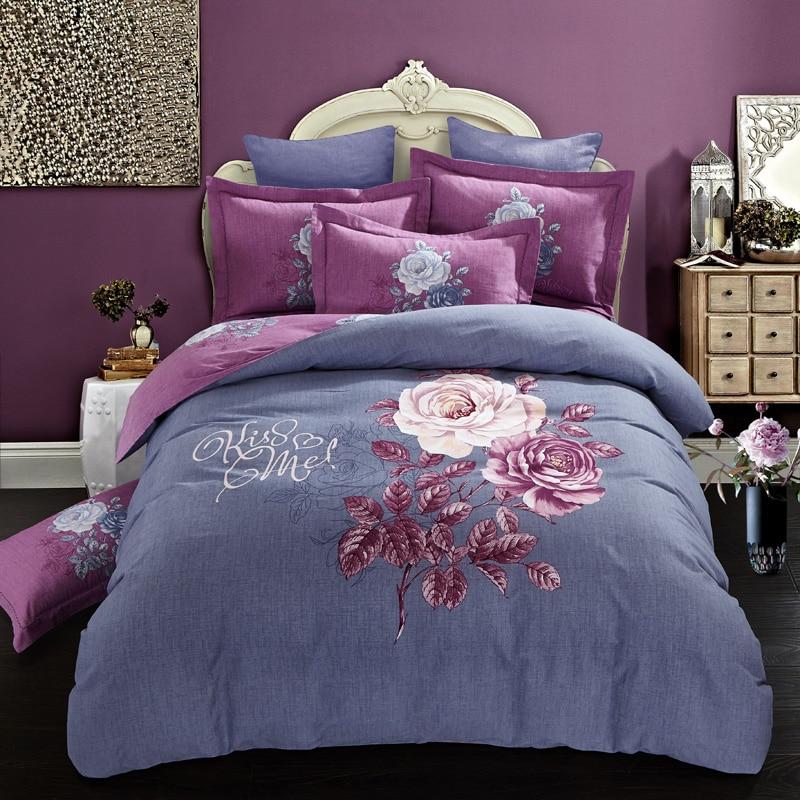 Flowers prints bedding set 100% cotton duvet/quilt covers bedsheet bedclothes Pillowcase king queen sizeFlowers prints bedding set 100% cotton duvet/quilt covers bedsheet bedclothes Pillowcase king queen size