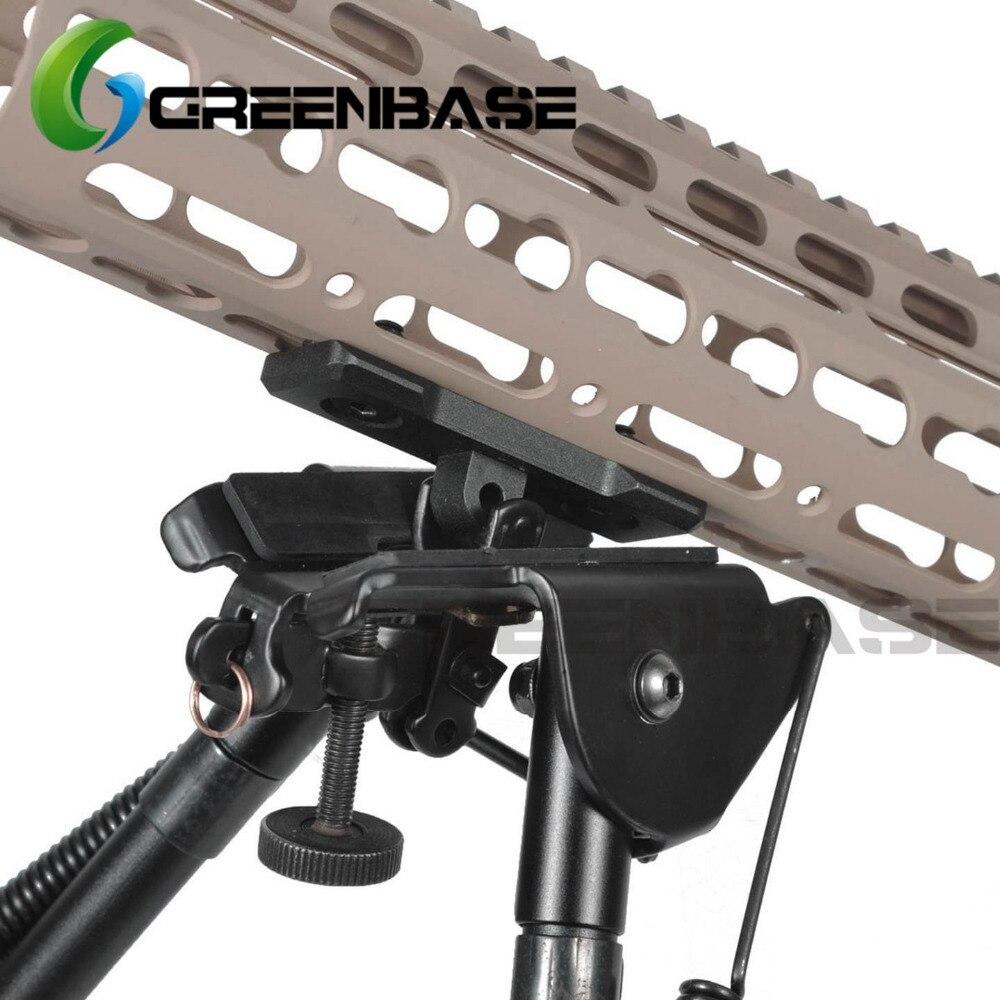 9 pulgadas ABS Plástico bípode táctico Soporte para disparar francotirador