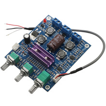 Best price TPA3116 NE5532 2.0 50W+50W Dual-channel stereo HIFI HIGH power digital amplifier board WITH Tone FOR 12V 24V CAR