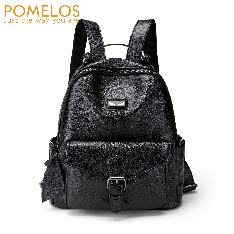 POMELOS High Quality Women Leather Backpack Female Fashion Travel Backpacks Back Pack Girls Black Softback Casual Backpacks New