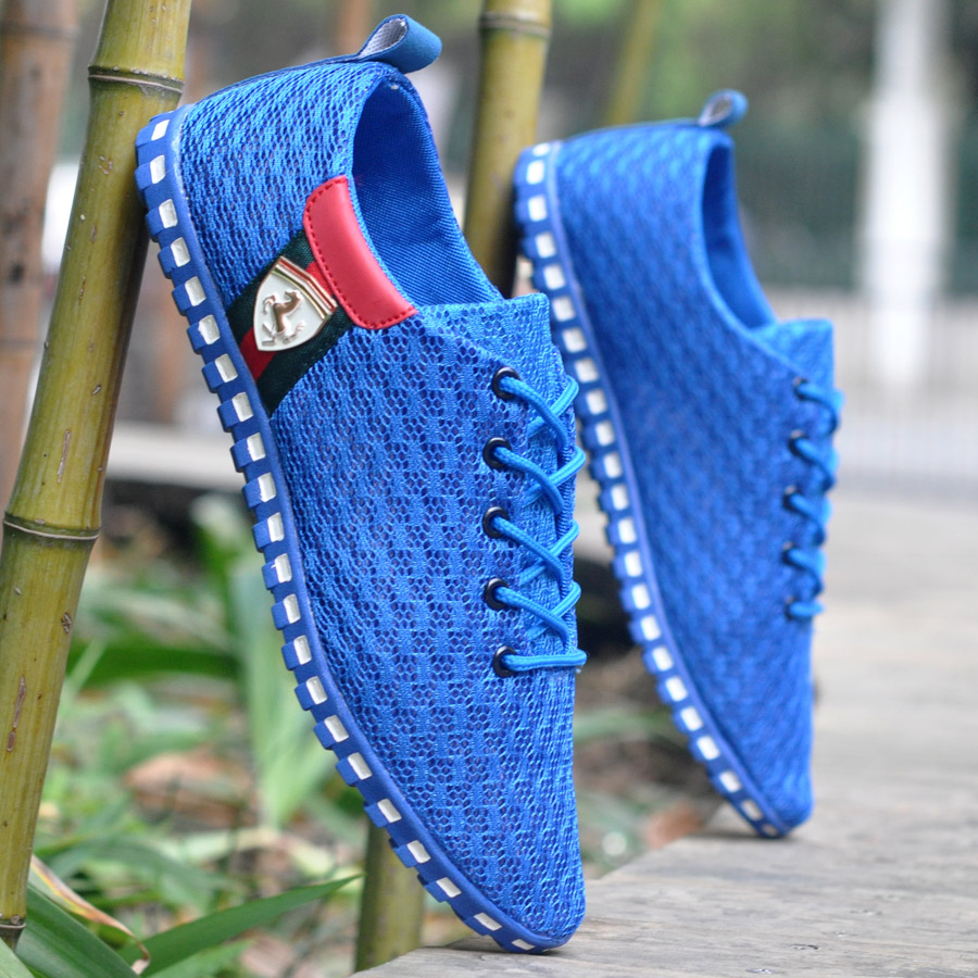 ФОТО Spring And Autumn Nice New Light Men Shoes Men Flats Network Gauze Breathable Casual Shoes Flats Men Fashion Summer Style