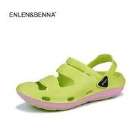 New Summer Women Sandals 2017 New Croc Woman Beach Shoes Hollow Slippers Hole Breathable Flip Flops