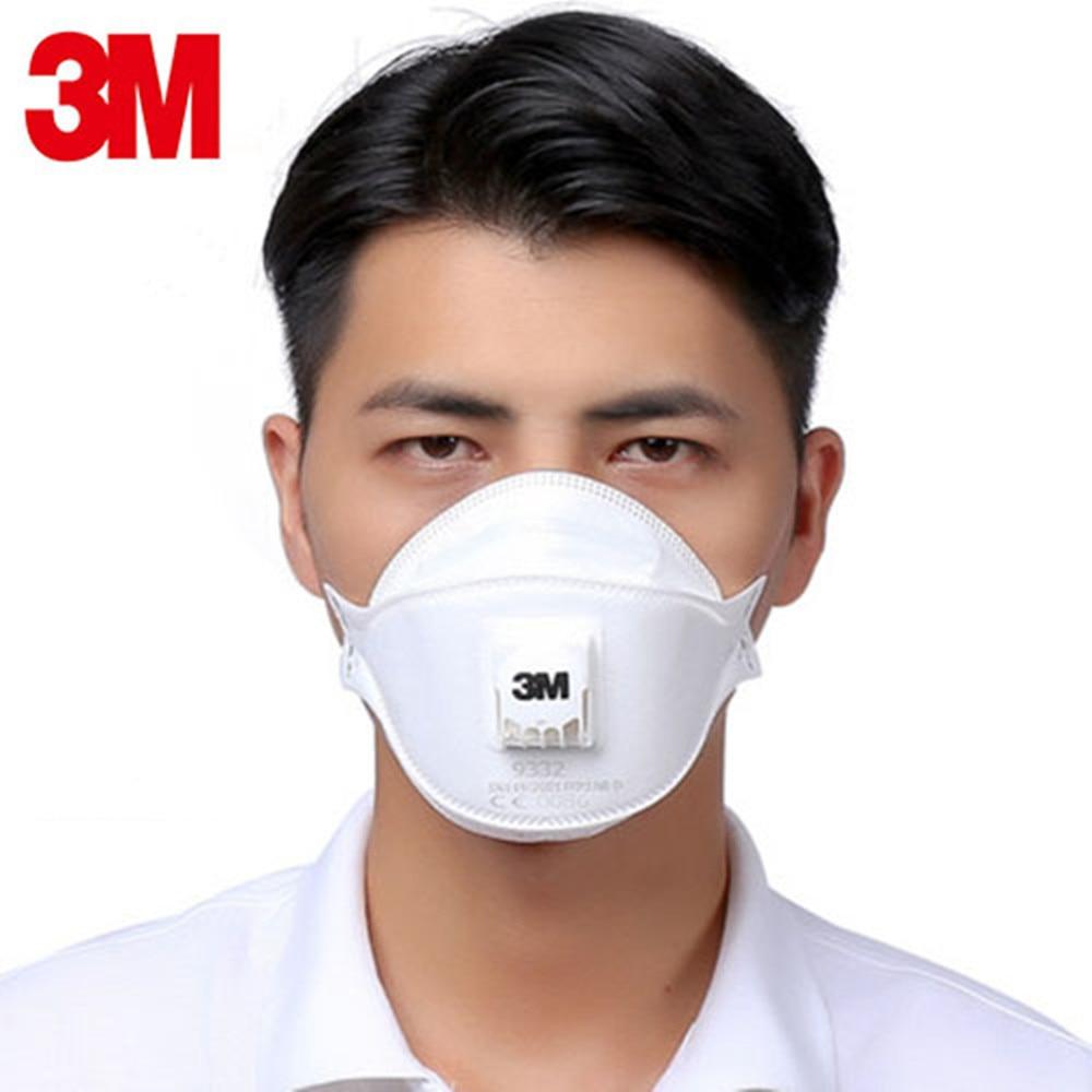 1/5pcs 3M FFP3 9332 Gas Mask Anti-dust Protective Industrial Anti-fog PM2.5 High Toxic Radioactive Particles Coolflow Valve 1/5pcs 3M FFP3 9332 Gas Mask Anti-dust Protective Industrial Anti-fog PM2.5 High Toxic Radioactive Particles Coolflow Valve
