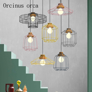 Nordic simple dining room Bar Cafe creative Cafe Reticular Chandelier Postage free