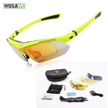 WOLFBIKE Mens Cycling Eyewear Polarized Cycling Sun Glasses Outdoor Sports Bicycle Glasses Bike Sunglasses Goggles 5 Lens Green aielbro cycling sun glasses outdoor sports bicycle glasses men women bike sunglasses 29g goggles eyewear 3 lens
