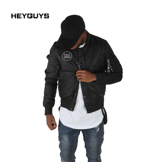 cdc60e0d9a121 HEYGUYS Walking Dead street chaqueta negra Hip Hop wear Cazadora bomber chaqueta  marca ropa hombre chaquetas