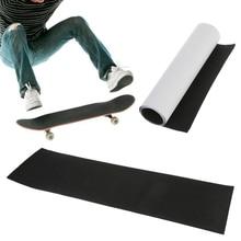 82*23 см Горячая Профессиональный Черный скейтборд палуба наждачная бумага сцепление ленты для катания на коньках доска Longboarding