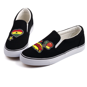 Image 5 - E LOV Creative Pop Art African Country Ghana Flag Customization Canvas Shoes Designer Ghanaian Platform Shoes Chaussures Femme