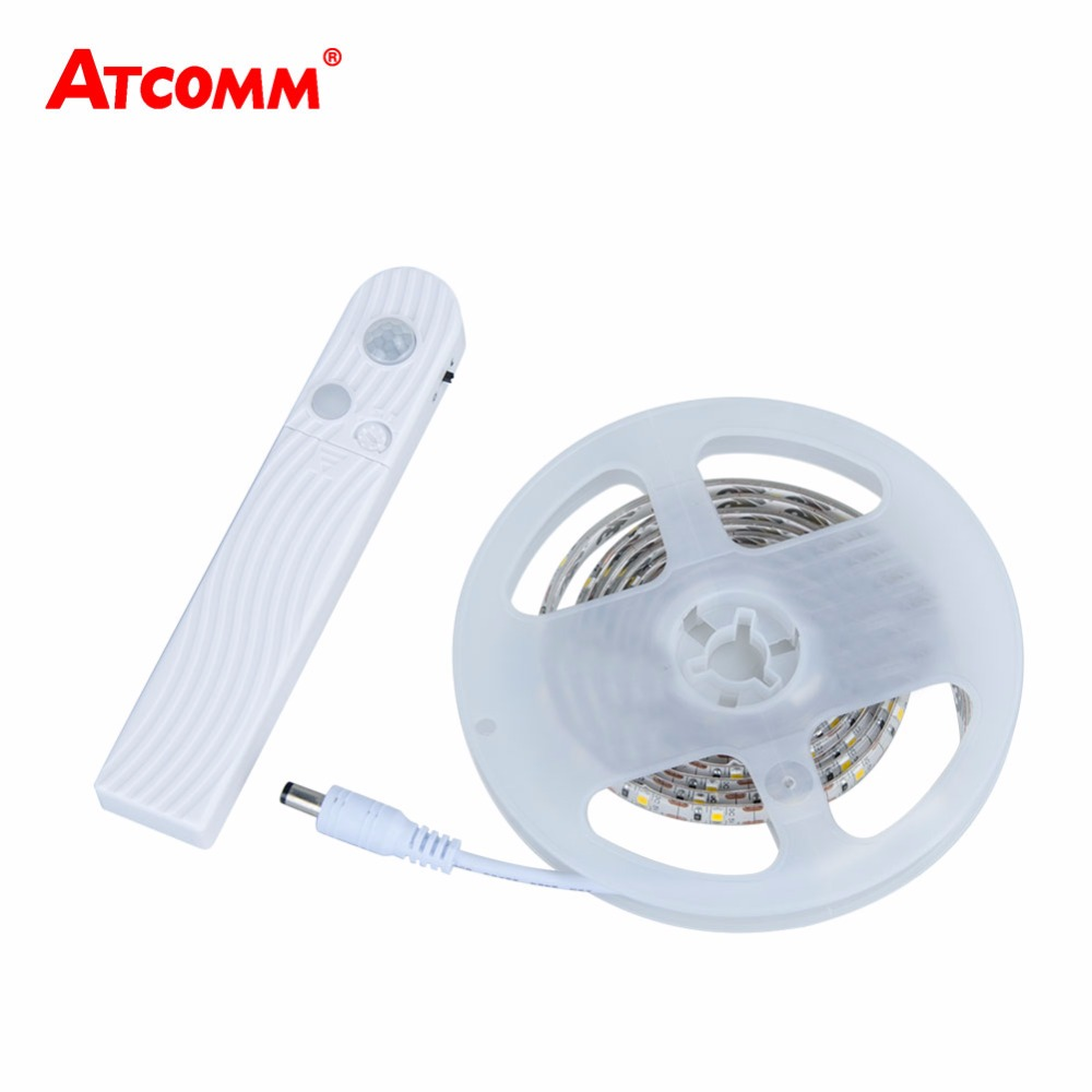 цены Motion Sensor RGB LED Strip Light IP65 Waterproof 1-3m SMD 2835 Timing Function LED Diode Tape Lamp Ribbon For Bedroom Stairs