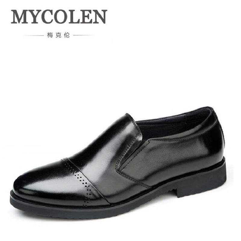 MYCOLEN New Arrival Men Black Patent Leather Shoes Party And Wedding Men Dress Shoes Luxurious Handmade Men Loafers sapatoMYCOLEN New Arrival Men Black Patent Leather Shoes Party And Wedding Men Dress Shoes Luxurious Handmade Men Loafers sapato