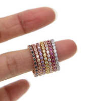100% 925 sterling silber 7 farbe stapel stapelbar mode mädchen frauen design schmuck birthstone rose gold silber mix farbe cz ring