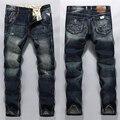 High Quality fashion street mens jeans original brand XIGETU jeans men regular low denim dark blue jeans trousers 29-38 R619