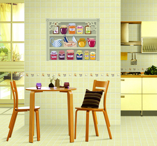 Free shipping tile stickers bathroom transparent stickers kitchen cabinet 60cm 50cm in wall for 50cm kitchen cabinets