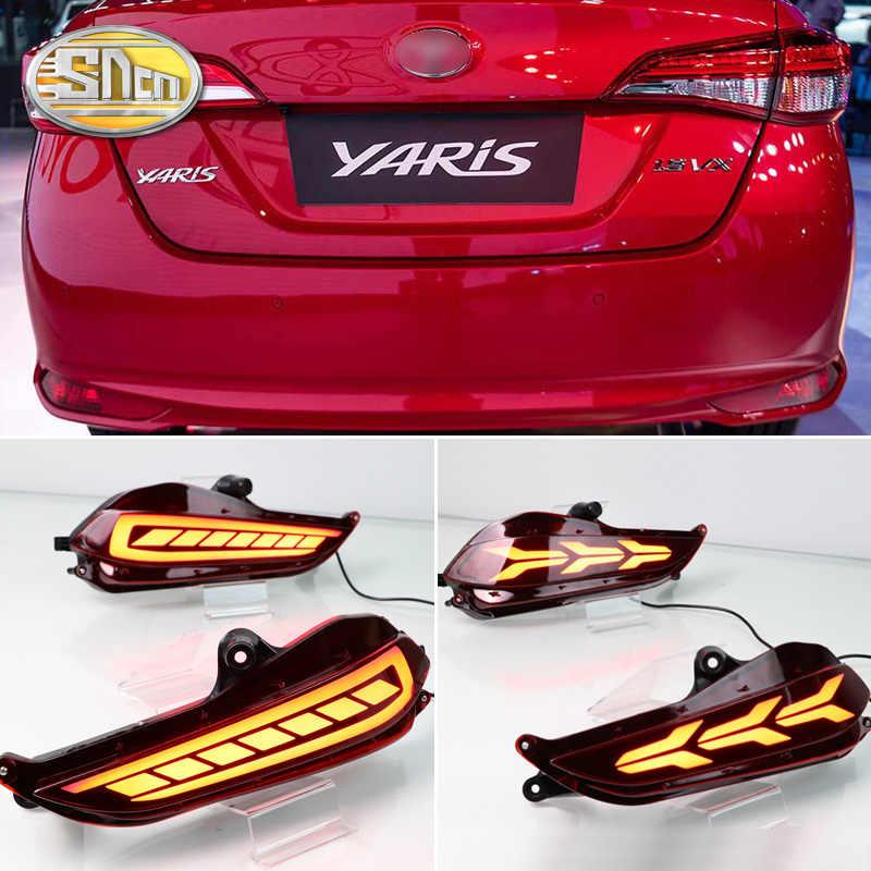 For Toyota Yaris 2017 2018 Led Car Rear Bumper Reflector Tail Brake Light Bar Driving Fog Lamp Car Light Assembly Aliexpress