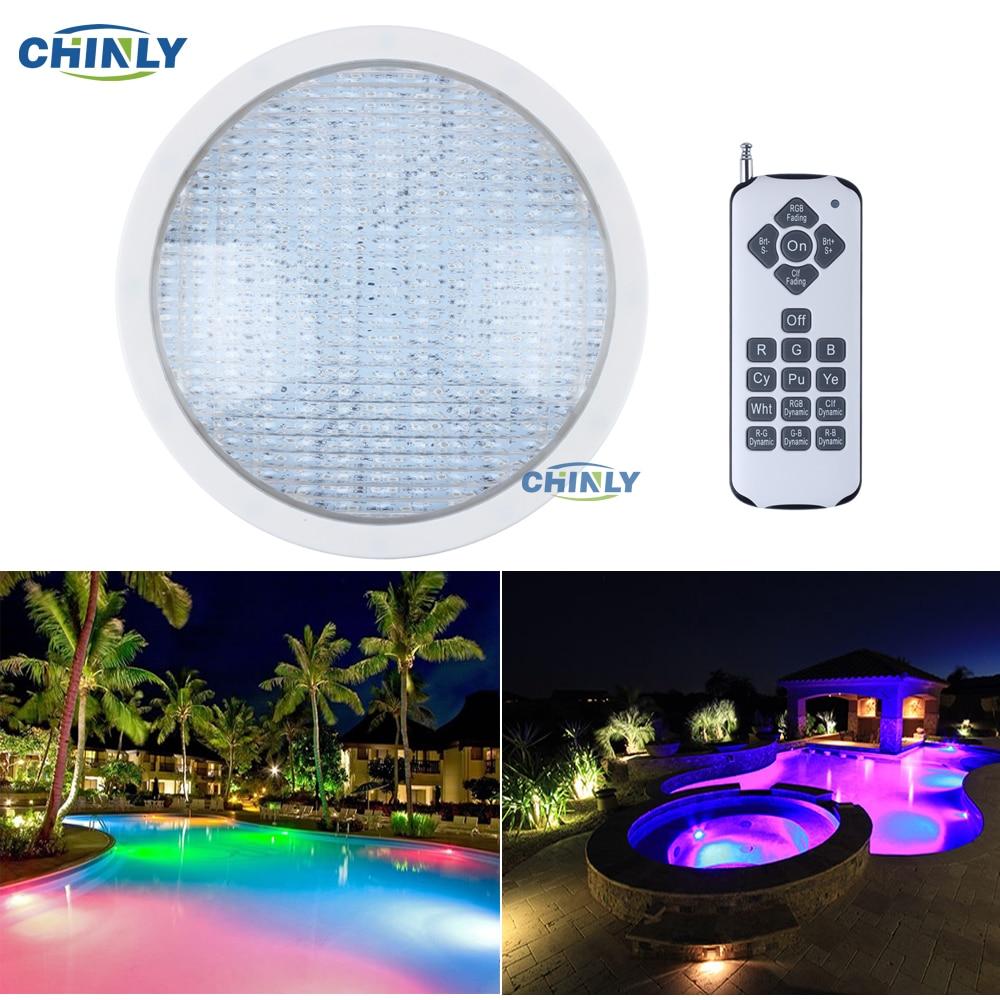 AC12V Par56 18W RGB Remote Swimming LED Pool Lights Bulb Underwater Lights Energy Saving 95% Warranty 2years ac120v e27 18w rgb swimming led pool lights underwater lights for pentair hayward light fixture energy saving 95