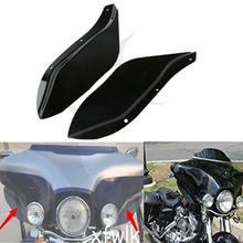 Motorrad Schwarz/Klar Seite Flügel Windschutzscheibe Air Windabweiser Für Harley Touring FLHR FLHT FLHX 1996-2013 12 11 10 09 08 07 06 05 04