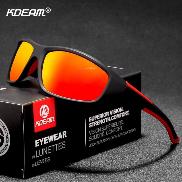 a6f99e575 KDEAM Active Lifestyle Men Sunglasses Polarized Distortion Free UV400  Riders Sun Glasses Sport With Special Print