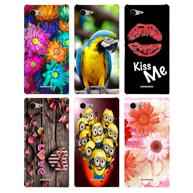 Soft TPU Silicone Coque For <font><b>Sony</b></font> <font><b>Xperia</b></font> <font><b>E3</b></font> D2203 D2206 D2243 D2202 Dual <font><b>D2212</b></font> Case Floral Plants Printed <font><b>Back</b></font> <font><b>Cover</b></font> Phone Case image