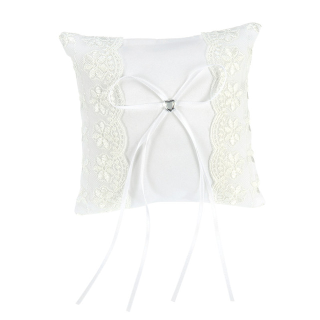 Lace Flower Ring Bearer Pillow Cushion Decorated Bridal Wedding Ceremony Pocket Wedding Accessories Decoration