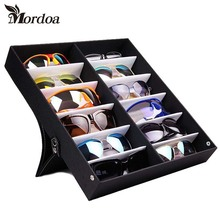 Mordoa 12Pcs Glasses Storage Display Case Box Eyeglass Sunglasses Optical Display Organizer Frames Tray 3d Glasses Display Rack