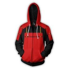Sasuke Naruto Anime 3D Zipper Hoodies Men Streetwear Hip Hop Warm Hooded Sweatshirts Casual Printed for Kids Boy