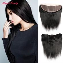 Cheap Brazilian Virgin Hair Straight Lace Frontal Brazilian Straight Hair 13×4.5 Ear to Ear Lace Frontal Closure With Baby Hair