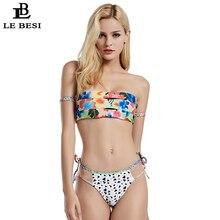 Здесь можно купить  LE BESI 2018 New Women Bikini Set Bandage Bikini Sexy Swimwear Brazilian Swimsuit Strapless Bathing Suit Push Up With Sleeve