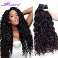 4 Bundles Wave Hair Wet and Wavy Virgin Indian Hair Ocean Wave Remy Human Hair Indian Virgin Hair Water Wave Natural Wave Black