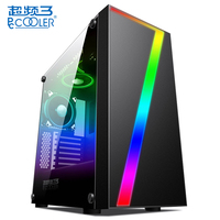 PCCOOLER GAME 1 Desktop Gaming Water Cooling Case with HDD/SSD Hard Disk Stent / RGB Color Display Control 0Water Liquid Cooling