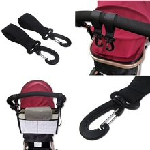 2PCS/Set Multifunction Baby Stroller Hooks Hanger Nappy Bag Carriage Accessories