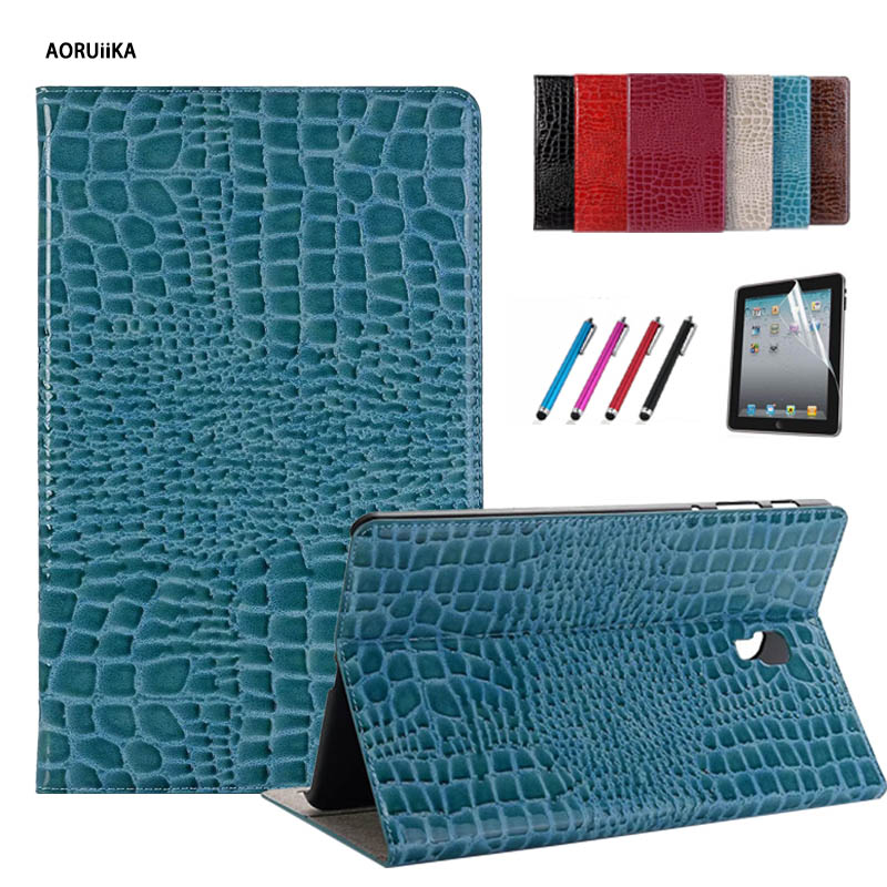 Crocodile Stand Case For Samsung Galaxy Tab A A2 10.5 2018 T590 T595 SM-T590 SM-T595 Smart Cover With Auto Sleep Wake