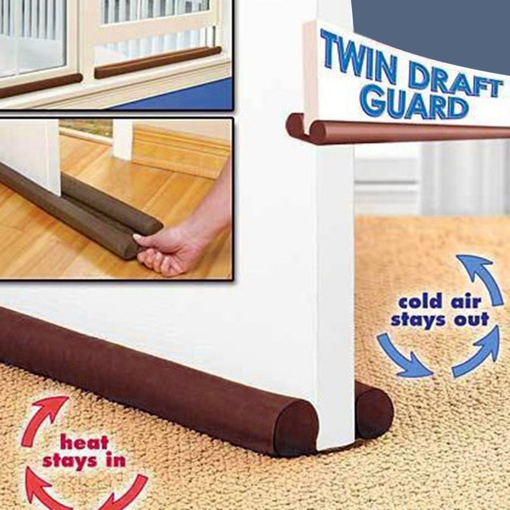 2019 New Under Window Door Fabric Double Sided Draft Guard Stopper Home Household Energy Saving Twin Protection Save From Damage
