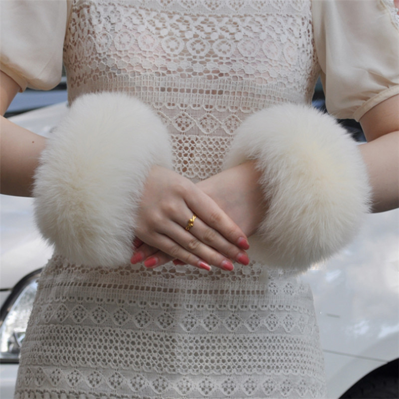 Hot Sale Real Genuine High Quality Fox Fur Cuffs Fashion Natural Fox Fur Cuff Fashion Accessories Arm Sleeve