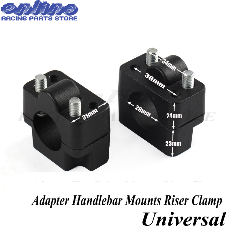 цены PRO TAPER Aluminum Motorcycle Dirt Bike Handle Bar Mount Fat Bar Adapter Handlebar Mounts Riser Clamp 7/8