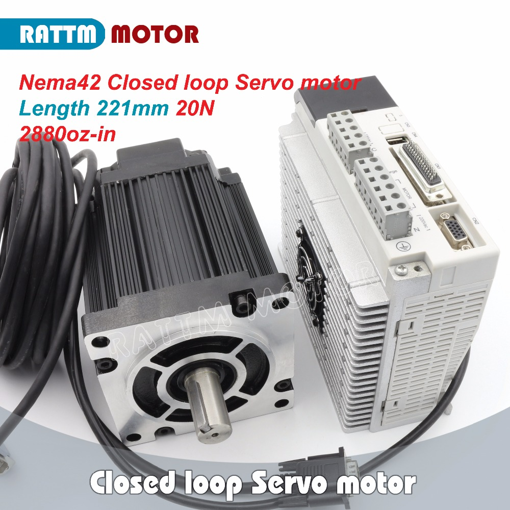 EU Ship Free VAT! Closed-loop Servo motor 20N.m/2880oz-in 3-Phase 110(Nema42) Hybrid stepper motor & 3-phase Step-servo Driver free dhl used 3 phase cr06550 ac servo motor driver leadshine vs a4988 stepper motor driver module ems