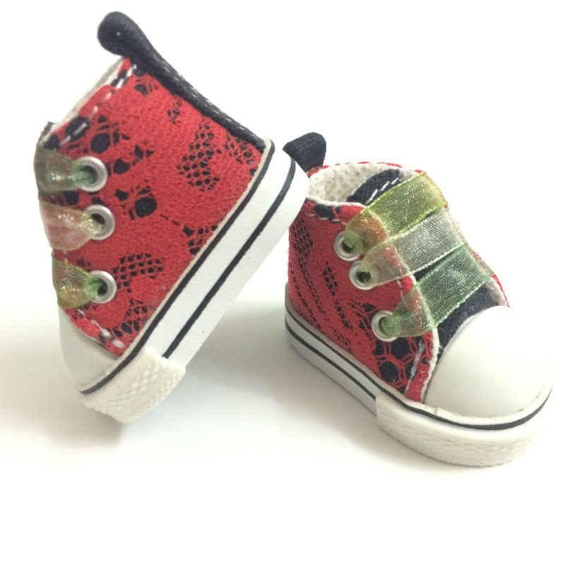 5 см мини кукла на полотне обувь кроссовки в стиле кэжуал обувь для кукол аксессуары, BJD туфли Сникеры игрушки сапоги для 1/6 куклы 2 пара/лот