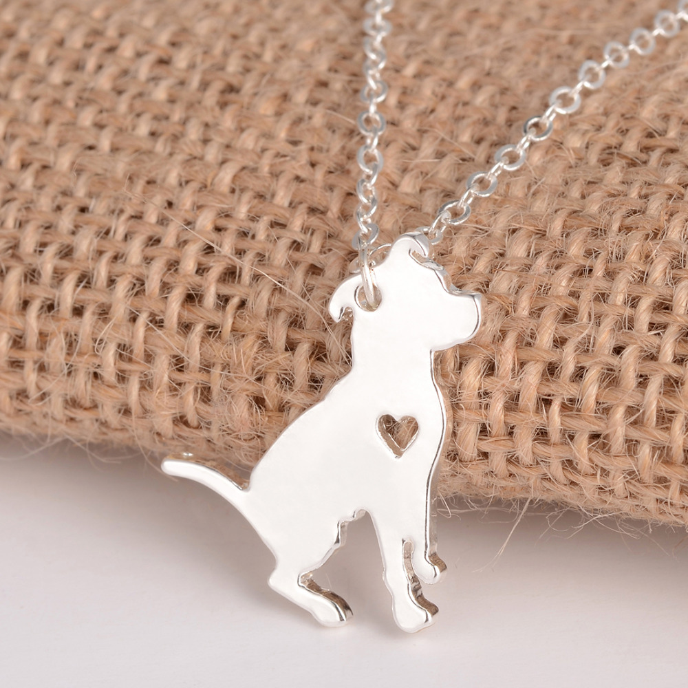 Fashion Jewelry Pit Bull Kaelakee Pitbull kohandatud koer kaelakeed - Mood ehteid - Foto 5