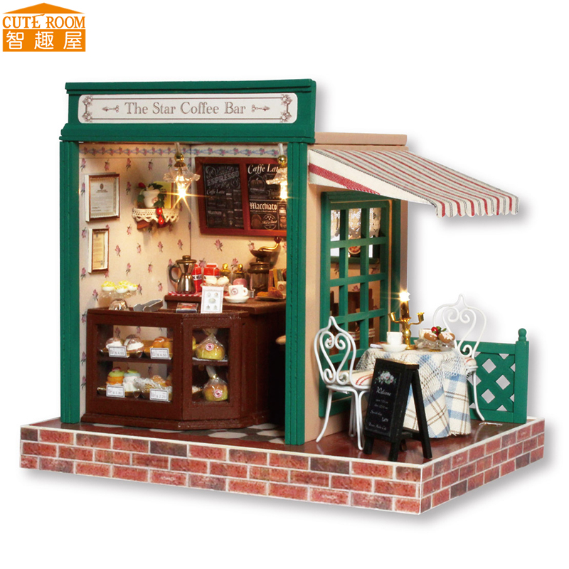 DIY Wooden House Miniaturas with Furniture DIY Miniature House Dollhouse Toys for Children Birthday and Christmas Gift Z05 diy wooden house miniaturas with furniture diy miniature house dollhouse toys for children christmas and birthday gift a28