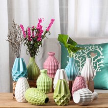 Modern Fashion Ceramic Flower Vase European Home Decoration Small Vases Wedding Tabletop Handmade