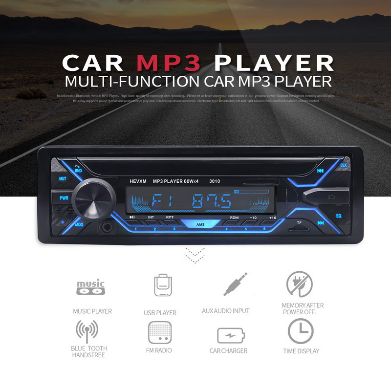 aux in 1 din 12v painel destacavel do carro mp3 player in dash 015