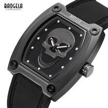 BAOGELA новые спортивные кварцевые часы с скелетом мужские часы с силиконовым ремешком светящиеся наручные часы с черепом мужские часы 1810 черные