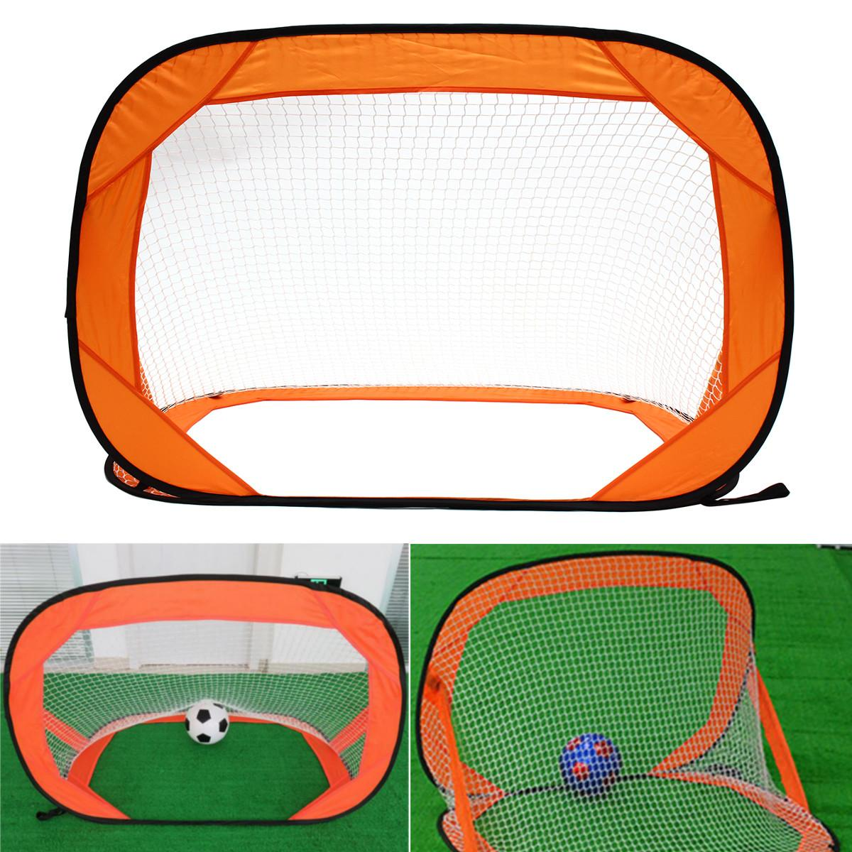 2PCS Mini Pop Up Soccer Goals Set Portable Foldable Football Net Kids Outdoor Team Sports Training Accessories 85X85X120cm