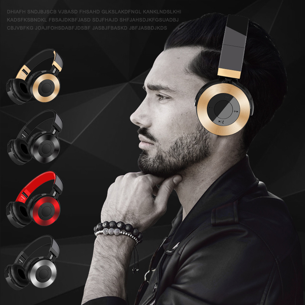 Bluetooth Headphones Over Ear Hi-Fi Stereo Wireless Headset With Mic TF Card FM Apr27 bluedio t2 wireless bluetooth v4 1 stereo headphones with micrphone headset support tf card fm function