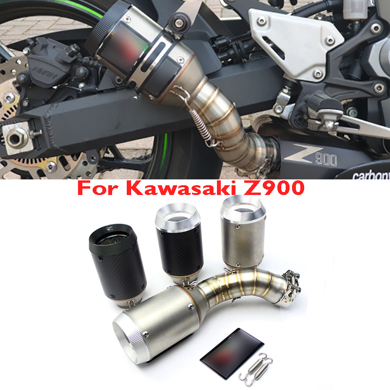 Motorcycle Muffler Exhaust-System Z900 Escape Slip-On Kawasaki for Link-Tube